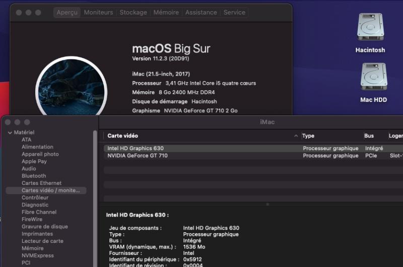 mise à  jour Big Sur 11.2.3 ( 20D91 ) Captu248