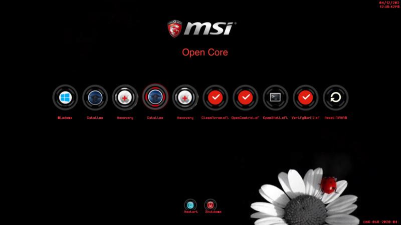 Open Core Bootloader Screen27