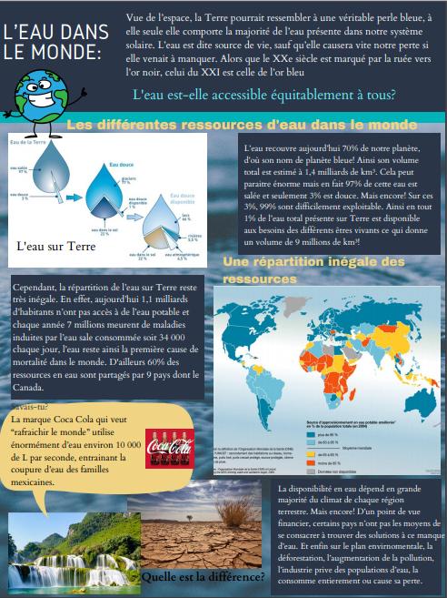 L'eau dans le monde. Articl12