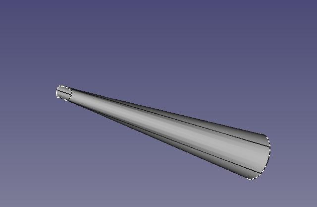 Freecad créer un embout aspirateur Tube_a10