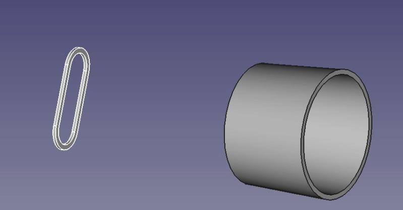 Freecad créer un embout aspirateur Tube_a11
