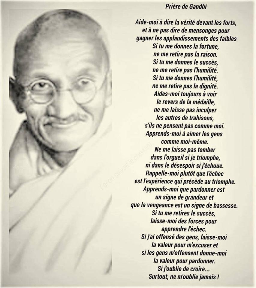 Prière de Ghandi 82110210