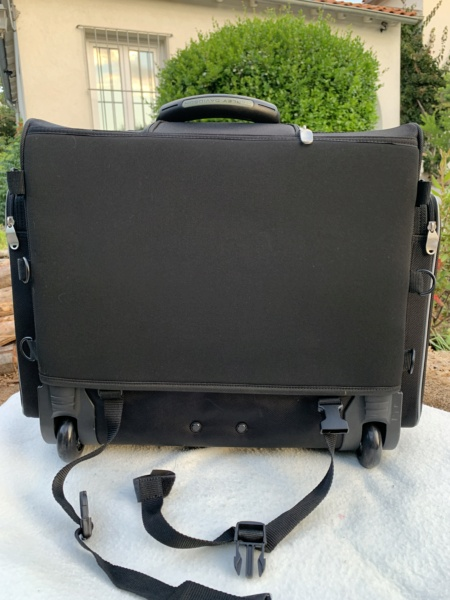 Bagage de sissy bar Touring bag Harley Davidson à roulettes. Img_6310