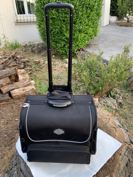 Bagage de sissy bar Touring bag Harley Davidson à roulettes. Img_6312