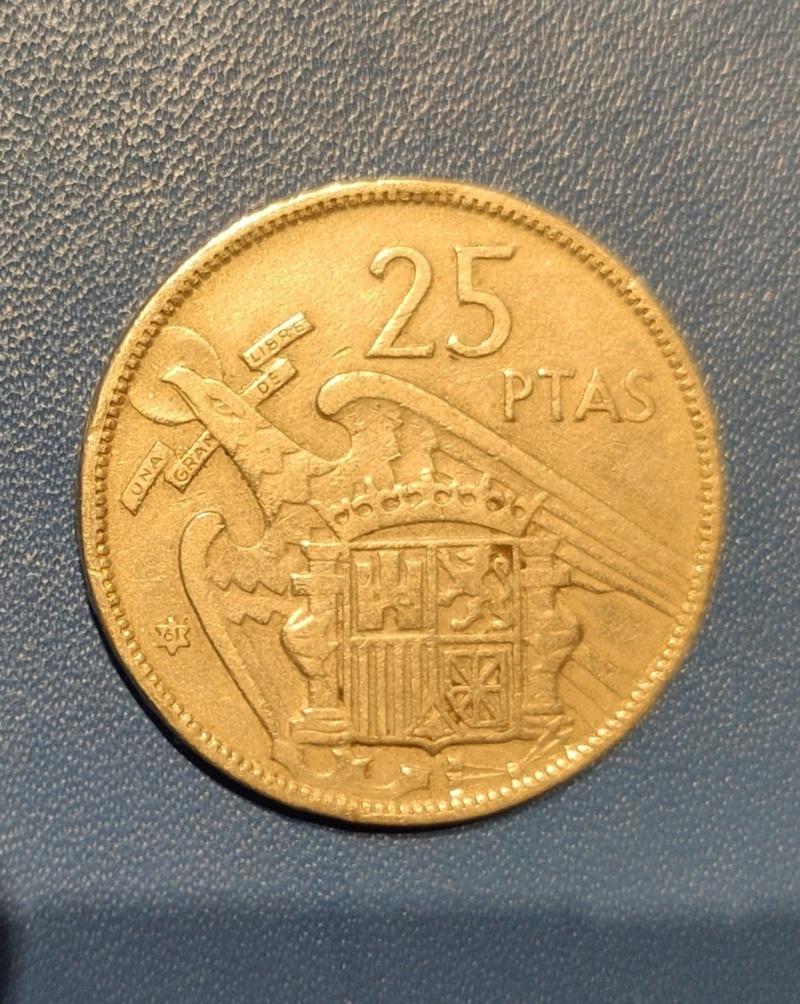 25 pesetas 1957 (*61). Estado Español. Opinión.  Img_2018