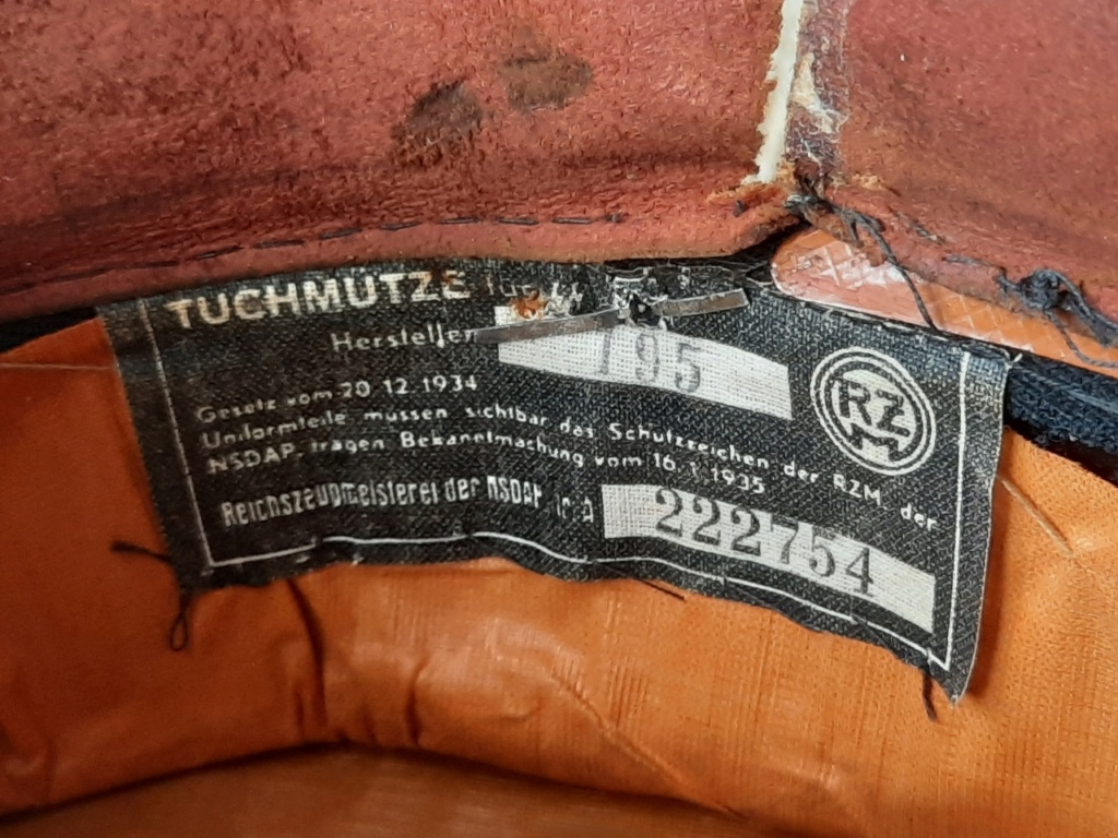 Casquette Troupe / sous Off Allgemeine SS avec un bonus !!!  20201327