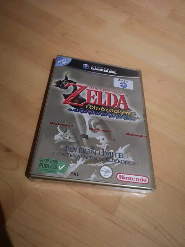 [VDS] Zelda Wind Waker Edition limitée boitier or - BLISTER NEUF - Nintendo GameCube 3_x_zz10