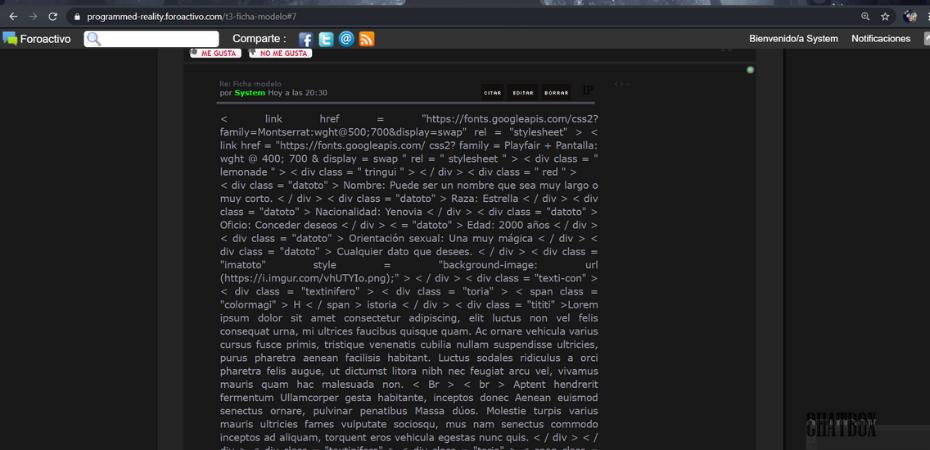 No se ven los HTML en los mensajes de mi foro Disezo49