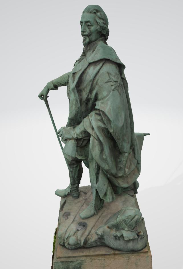 Armand Jean du Plessis Duc de Richelieu échelle libre Résine 3D ( 12cm ) Terminé Captur10