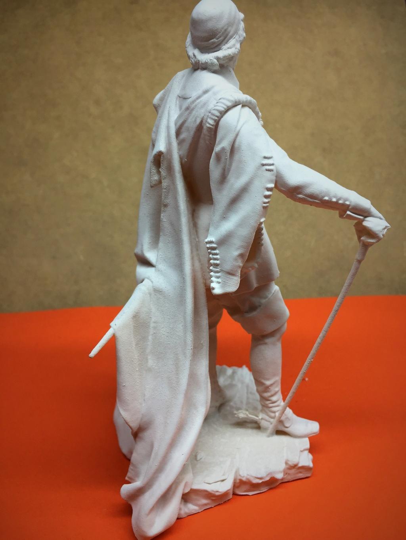 Armand Jean du Plessis Duc de Richelieu échelle libre Résine 3D ( 12cm ) Terminé Img_6914