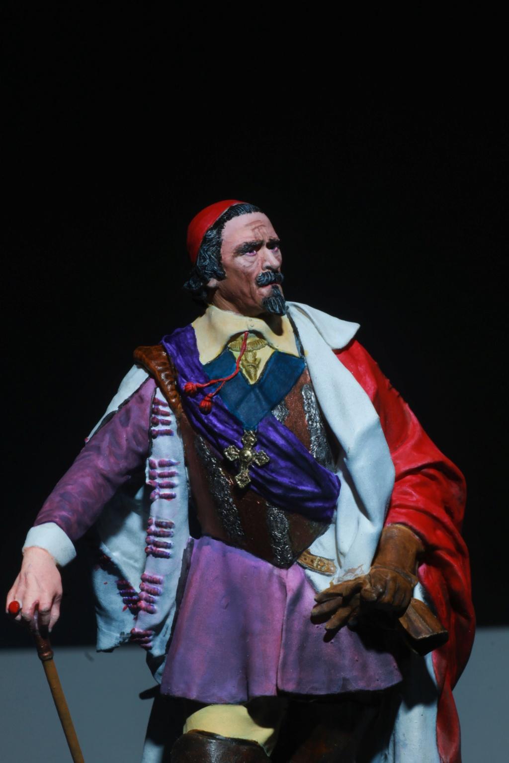 Armand Jean du Plessis Duc de Richelieu échelle libre Résine 3D ( 12cm ) Terminé Img_9110