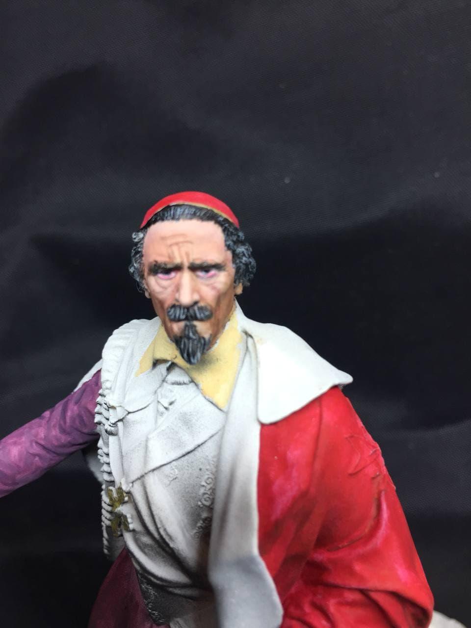 Armand Jean du Plessis Duc de Richelieu échelle libre Résine 3D ( 12cm ) Terminé Photo_10
