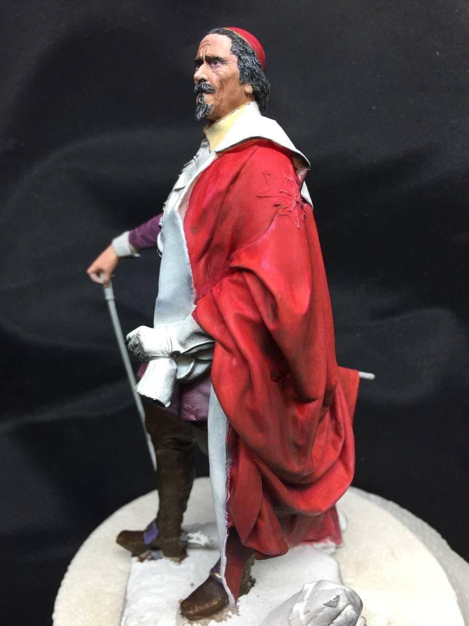 Armand Jean du Plessis Duc de Richelieu échelle libre Résine 3D ( 12cm ) Terminé Photo_11