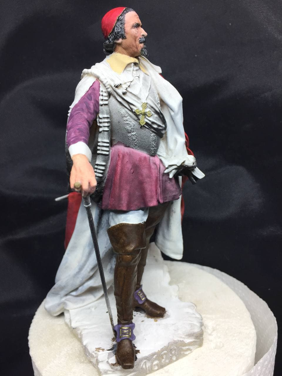 Armand Jean du Plessis Duc de Richelieu échelle libre Résine 3D ( 12cm ) Terminé Photo_12