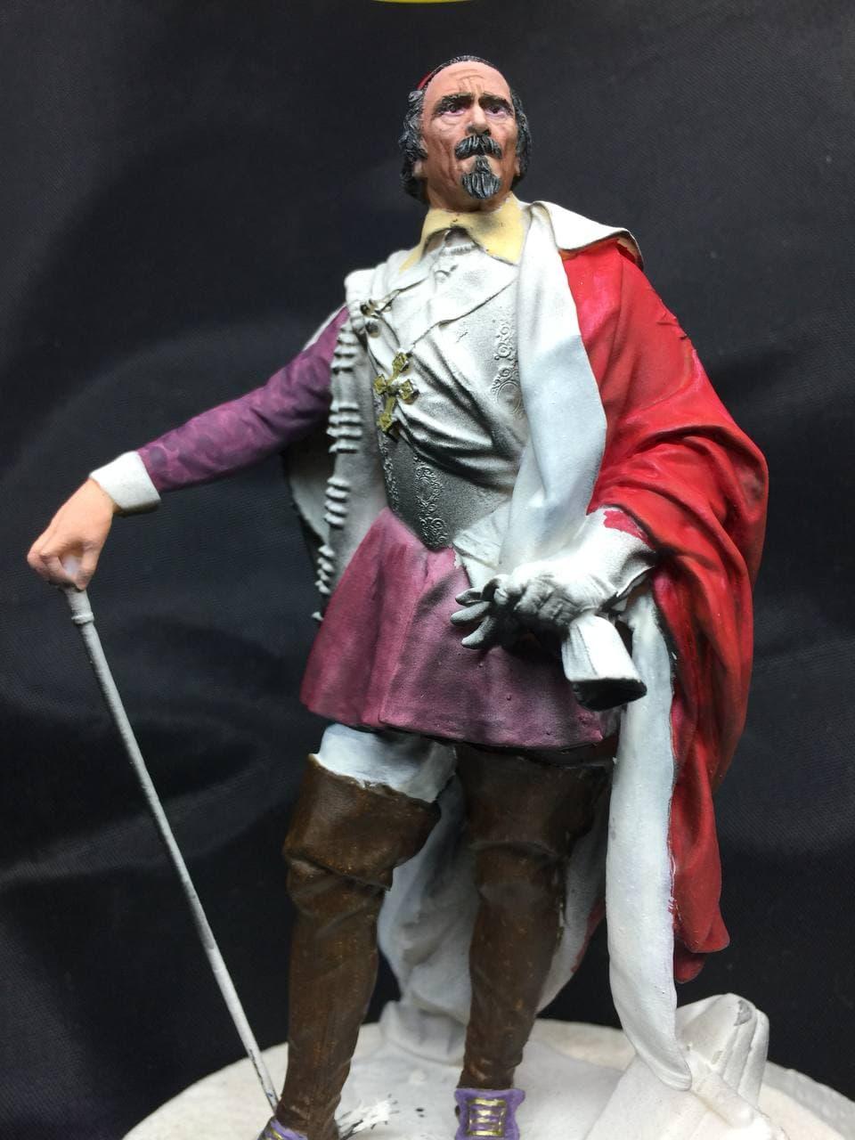 Armand Jean du Plessis Duc de Richelieu échelle libre Résine 3D ( 12cm ) Terminé Photo_13