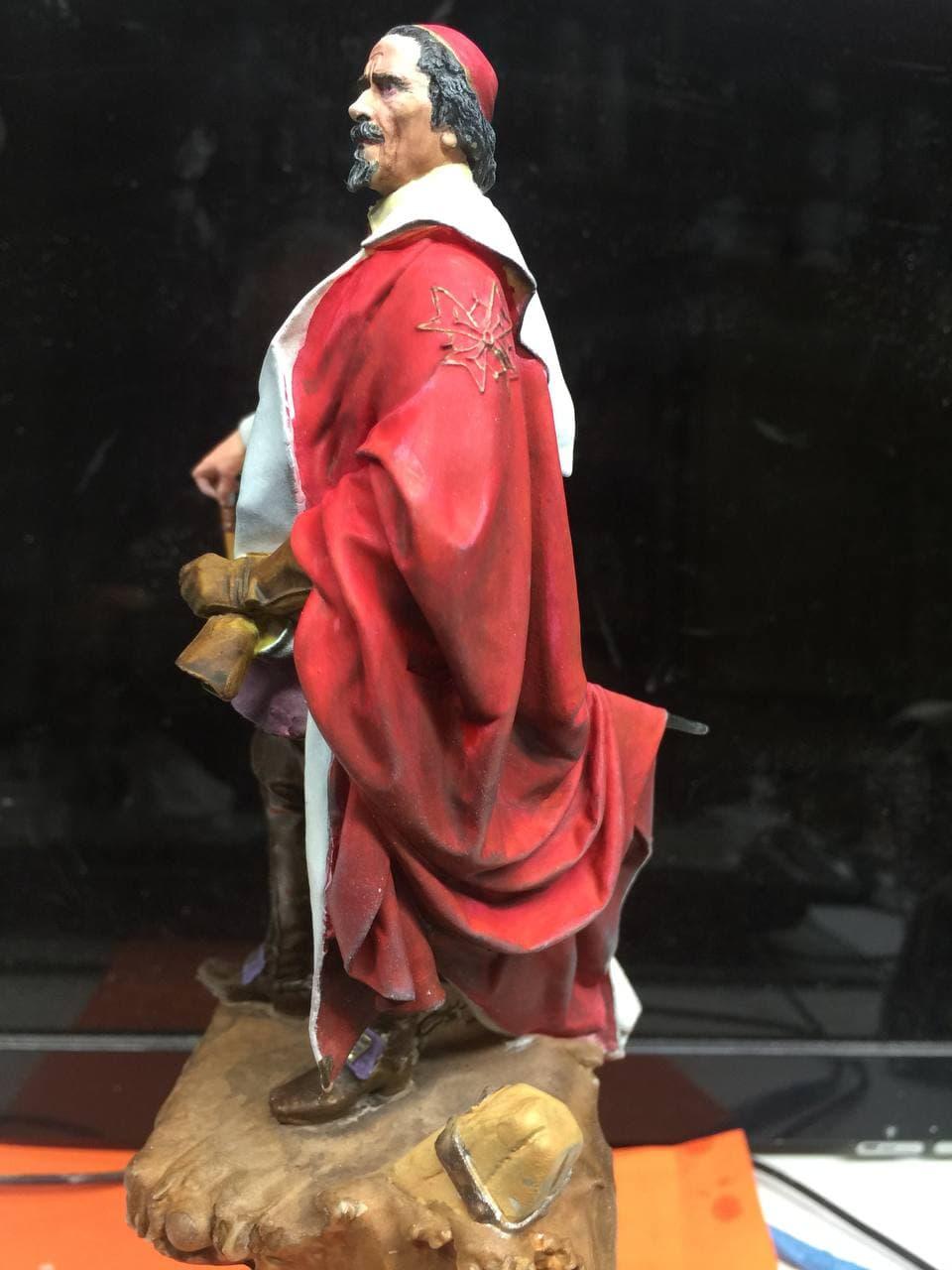 Armand Jean du Plessis Duc de Richelieu échelle libre Résine 3D ( 12cm ) Terminé Photo_15