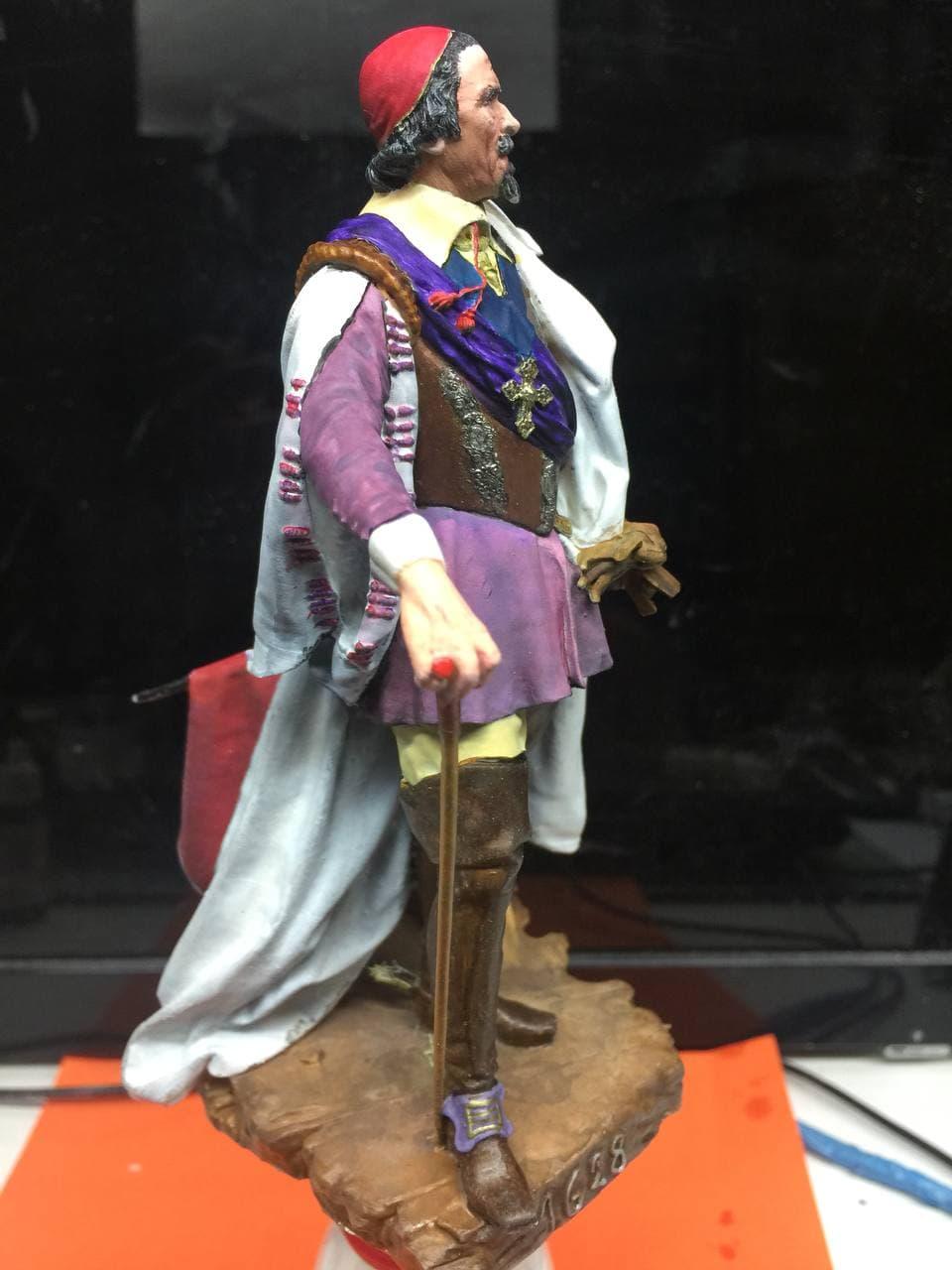 Armand Jean du Plessis Duc de Richelieu échelle libre Résine 3D ( 12cm ) Terminé Photo_16