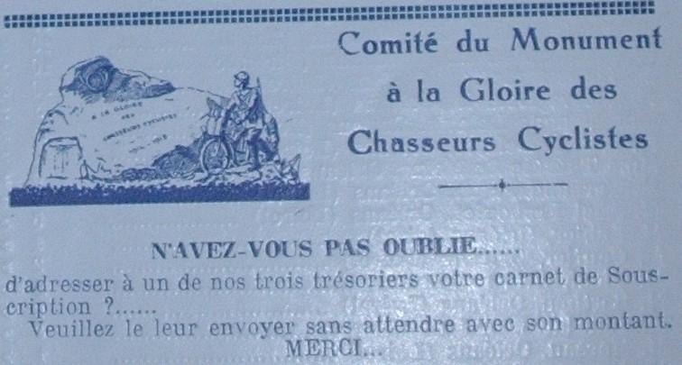 Monument des chasseurs cyclistes Monume10