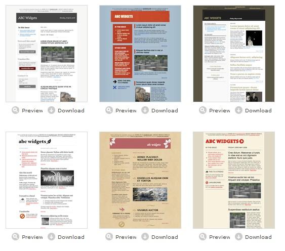 """Des """"templates"""" pour vos emails ou newsletters 2008-032"""