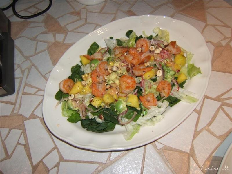 Salade d'avocat, mangue et crevettes Dscf0048