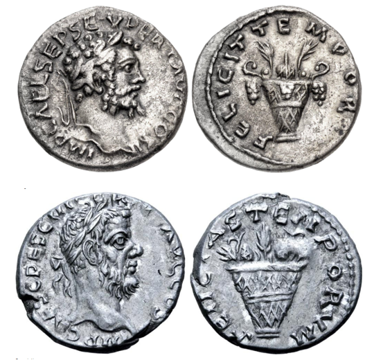 Septime vs Pescennius, Emèse vs Antioche. Emission inédite Compar34