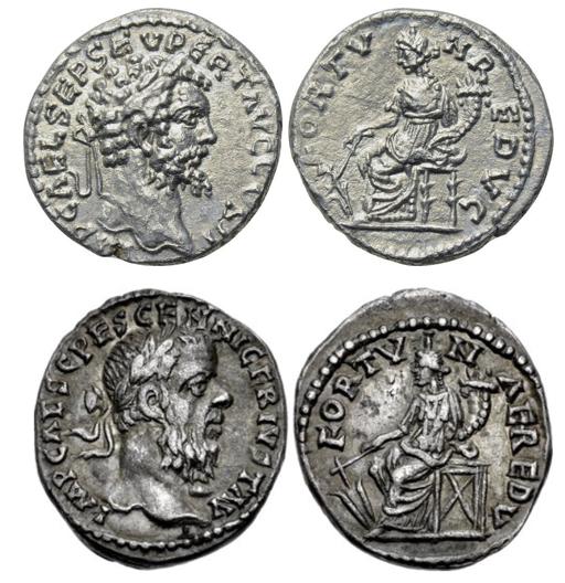 Septime vs Pescennius, Emèse vs Antioche. Emission inédite Compar38