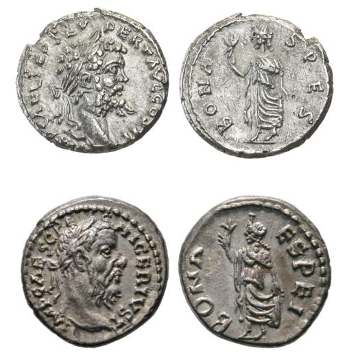 Septime vs Pescennius, Emèse vs Antioche. Emission inédite Compar40