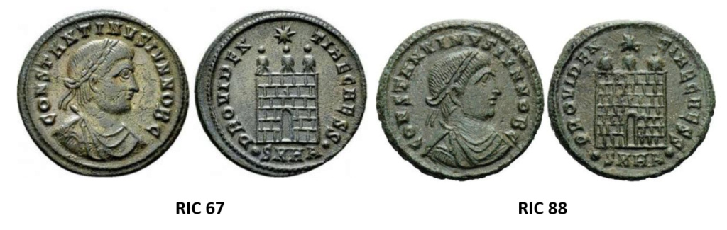 Constantin II: différence entre RIC 67 et 88 ? Ric_6710