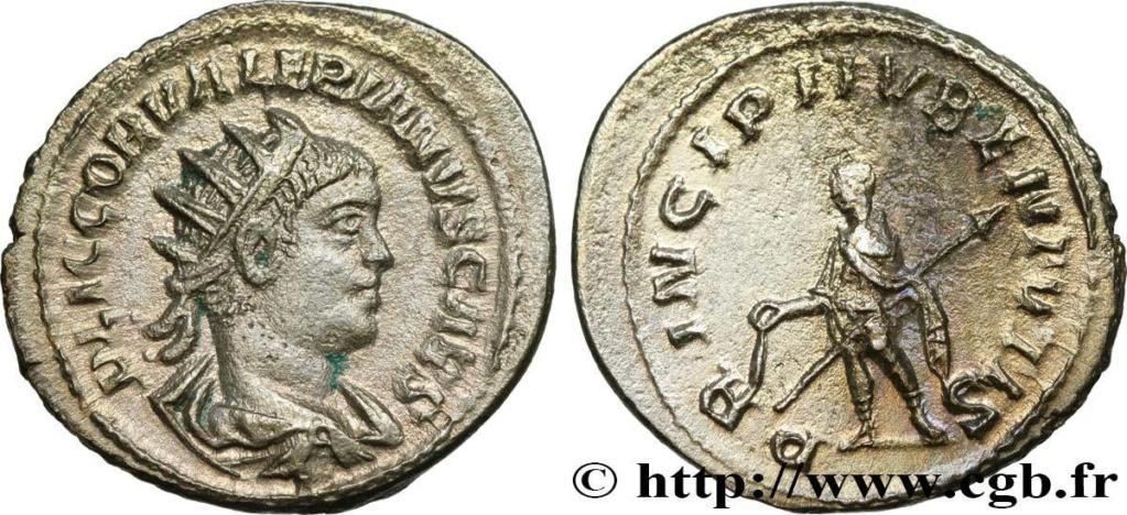 Valérien II : latin tardif sur variante de légende inédite Valeri12