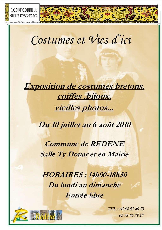 Expo coiffes, costumes & bijoux  à Rédéné du 11/07 au 06/08 Affich10