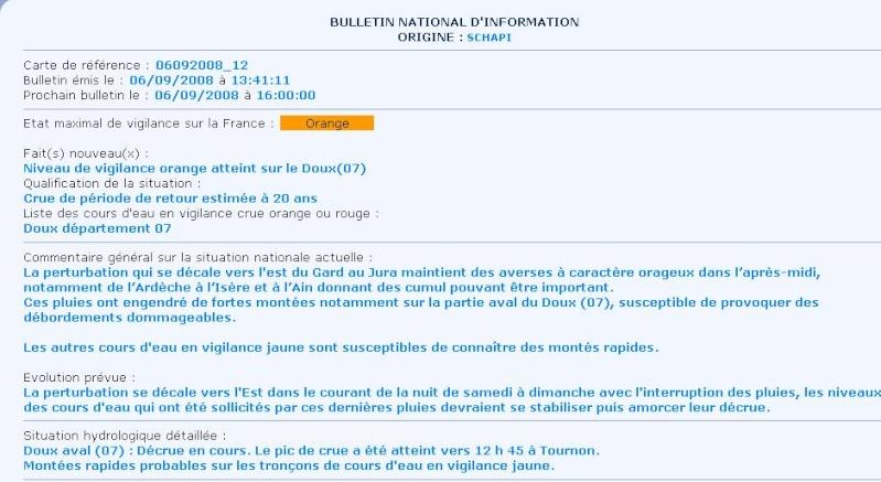 Crues du 6 Septembre 2008 en Ardèche (07) Bullet10