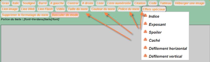 Personnaliser le choix des couleurs par défaut dans les messages - phpBB2 | punBB Aa10
