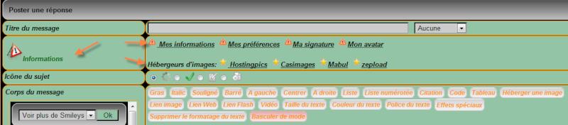 Personnaliser le choix des couleurs par défaut dans les messages - phpBB2 | punBB Bb10