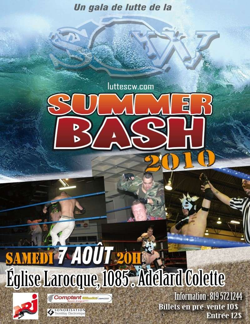 SCW SUMMER BASH 2010 - Sherbrooke Poster10