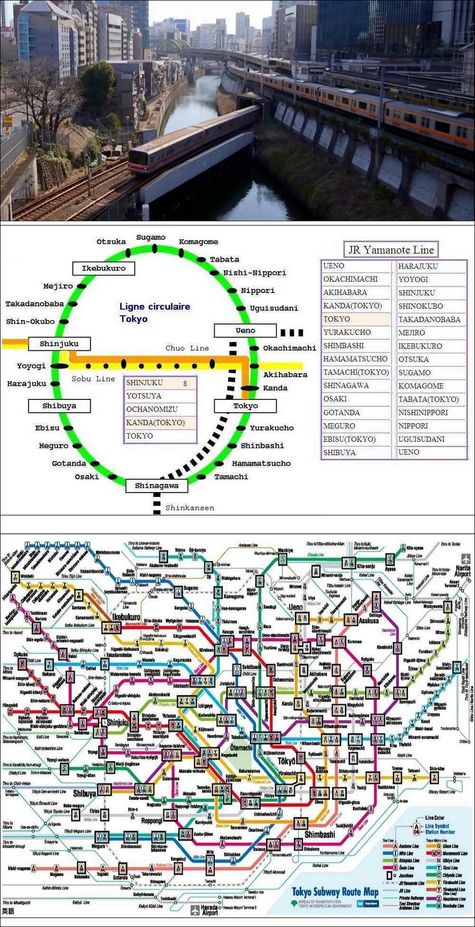 TOKYO : TRAIN - METRO - CARTES 94408610