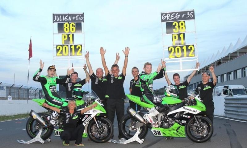 Kawasaki champion de France Superbike et Supersport 2012 53440210
