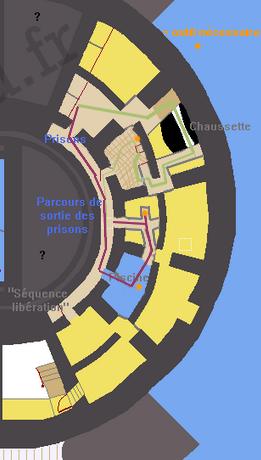 Réalisation du plan des souterrains de Fort Boyard (version 2010) Prison10