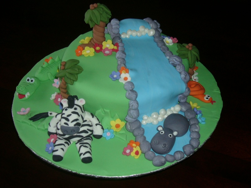 jungle, animaux sauvages, safari Gateau11