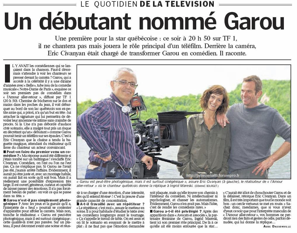 Возвращение любви  (L'amour aller-retour) с Гару - Страница 2 Garou111