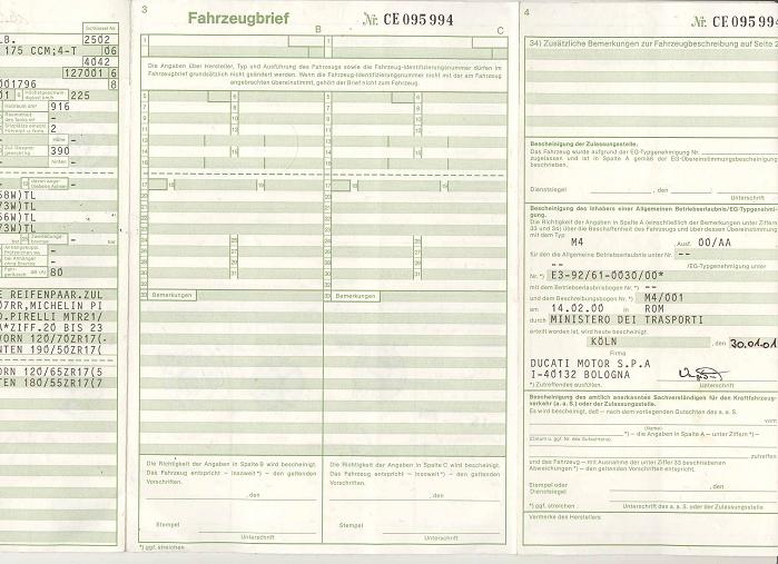Invoeren Duitse Kreidler in België (Fahrzeugbrief) Fahrze10