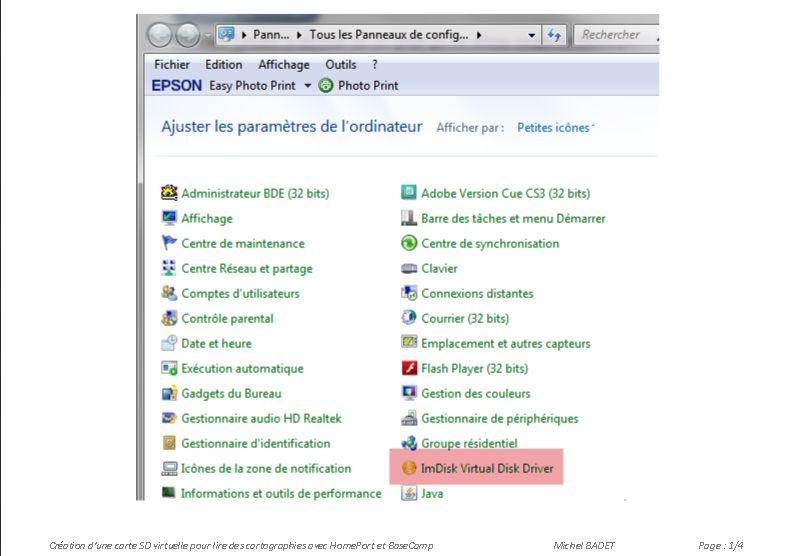 ImDisk Virtual Driver - Création d'une carte SD virtuelle sur votre PC Captu295