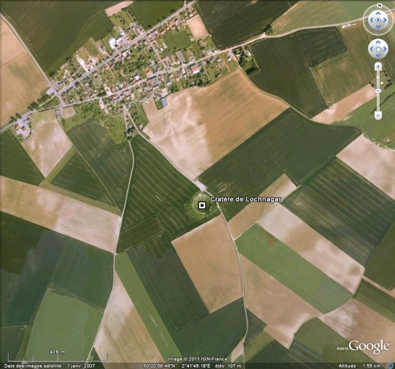 """Vestiges de la """"guerre des mines"""" (Première Guerre Mondiale) visibles dans Google Earth - Page 2 Lochna10"""
