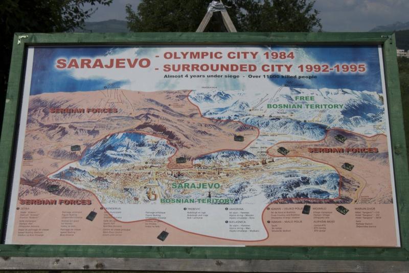 Le tunnel de Sarajevo - Bosnie Map-of10