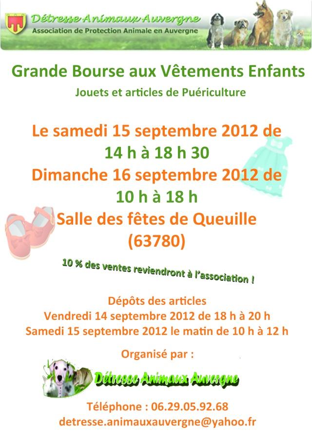 Bourse aux vêtements le 15 et 16/09 Affich10
