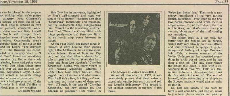 Rolling Stone 1969 - 1st Album review Pop10_10