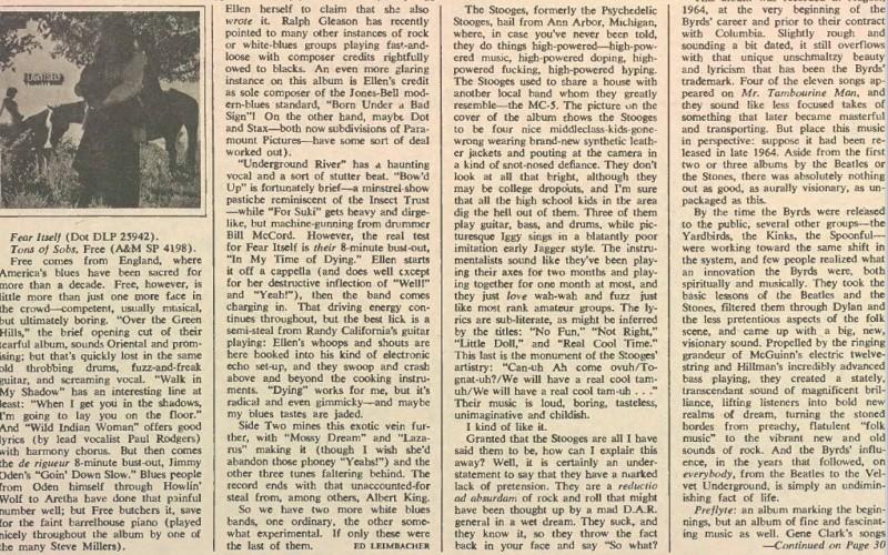 Rolling Stone 1969 - 1st Album review Pop11_10