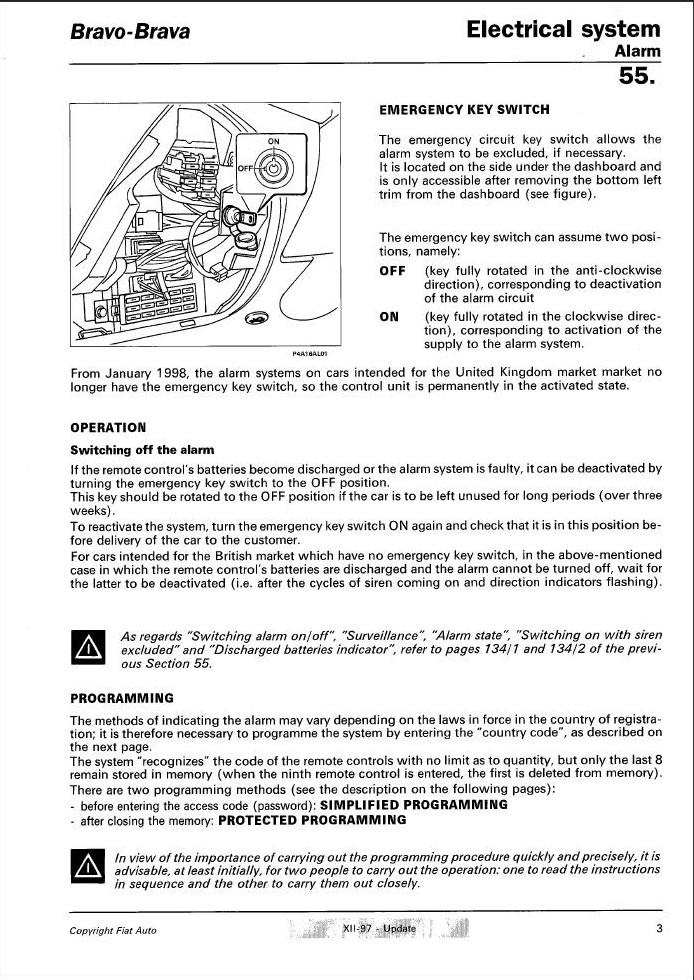 fiat marea week end 2 4l td an 1997 centralisation distance hs. Black Bedroom Furniture Sets. Home Design Ideas
