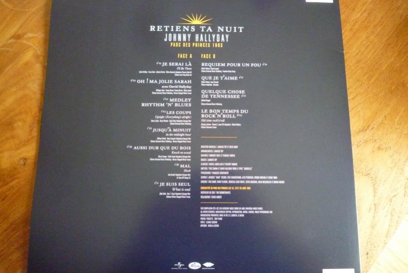 """PICTURE VINYLE """"retiens ta nuit"""" édité par mercury P1590810"""