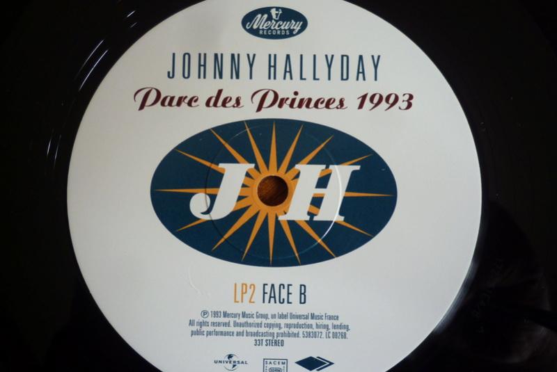 """double 33 tours """"Parc des princes 1993"""" édité par mercury P1590827"""