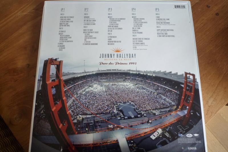 """Edition collector 5 LP """"parc des Princes 1993"""" édité par mercury P1590830"""